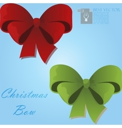 Christmas gift bow vector