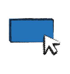 click cursor symbol vector image vector image