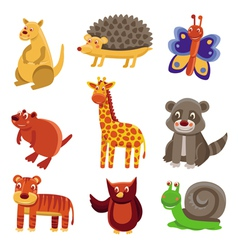 Cute cartoon animals vector image