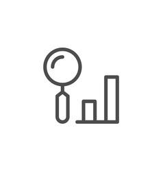 data search line icon vector image