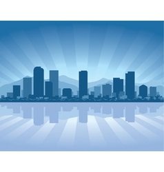 denver skyline with reflection in water vector image vector image