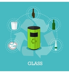 Garbage recycle concept in vector image