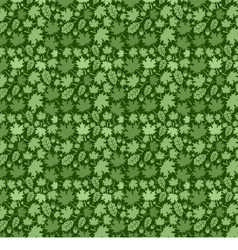 Green Leaf Background Pattern vector image