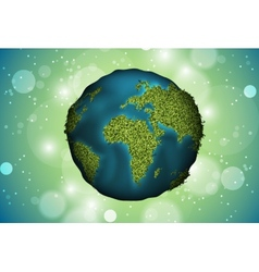 Green planet grass vector