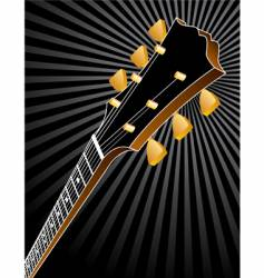 guitar burst vector image vector image