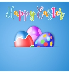 Happy Easter card with egg vector image vector image