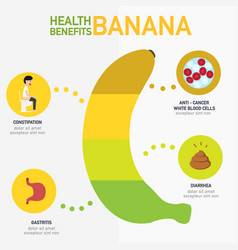 Health benefits of banana infographics vector