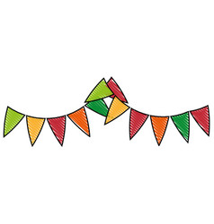 isolated cute party flags vector image