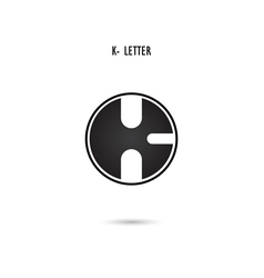 K-letter abstract logo vector image vector image
