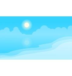 Landscape beach cartoon flat vector