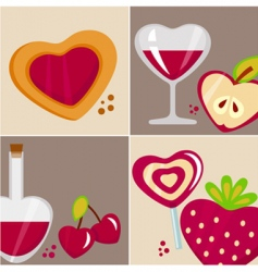 love design elements vector image vector image