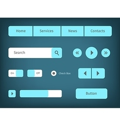 modern web ui elements vector image