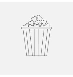 Popcorn box icon cinema movie line icon in flat vector