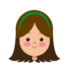 Portrait pretty little girl happy vector