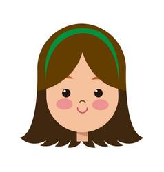 portrait pretty little girl happy vector image