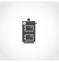 Solid fuel boiler icon vector
