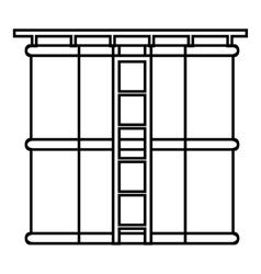 Tank liquid storage icon outline style vector