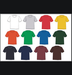 template t-shirt colorful vector image vector image