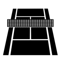 Tennis court icon simple black style vector