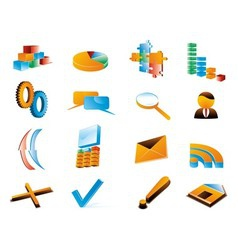Three dimensional icons vector image