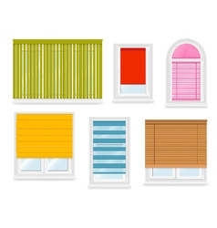 Realistic white plastic windows set vector