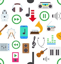Music pattern stickers vector image