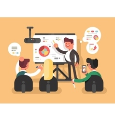 Business report presentation vector