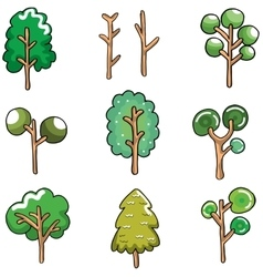 Ornament tree unique on doodles vector image