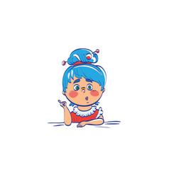 cute cartoon of girl teacher vector image