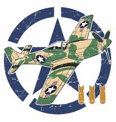 World war ii aircraft vector