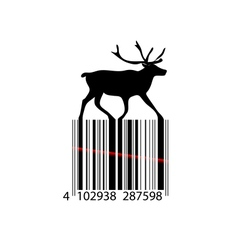Black and white christmas barcode vector