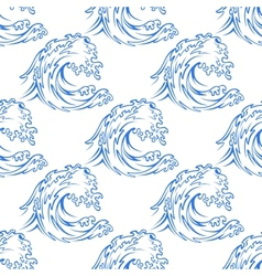 Dainty outline pattern of a curling wave vector image