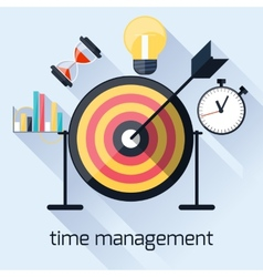 Time management timing concept in flat design vector