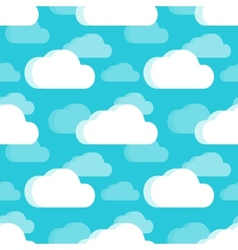 Clouds seamless pattern vector image