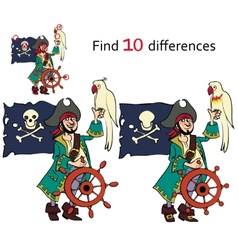 Find ten differences vector