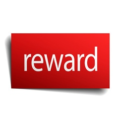 Reward red paper sign isolated on white vector