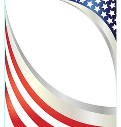 Abstract american flag frame vector