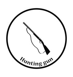 Hunting gun icon vector