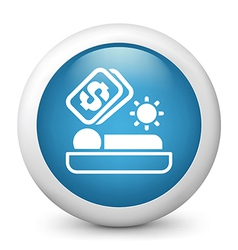 Accomodation glossy icon vector image vector image
