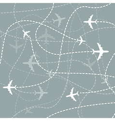 Airplanes traces vector image vector image
