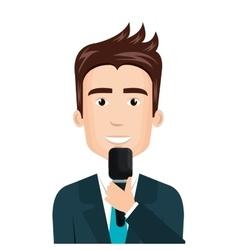 breaking news reporter character vector image