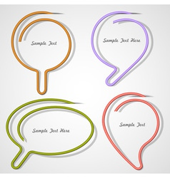 Bubbles speech made of paper clip vector image