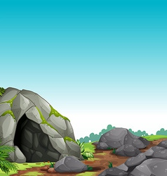 Cave scene vector image vector image