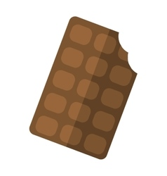 Chocolate piece isolated on white vector image