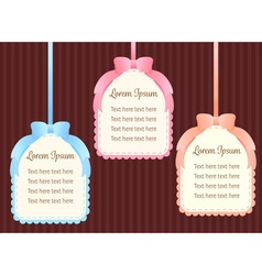 cute pastel colorful ribbon text dialog box or vector image vector image