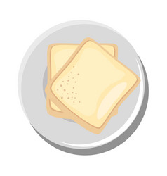 Delicious bread isolated vector