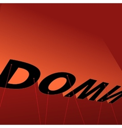 Down poster vector