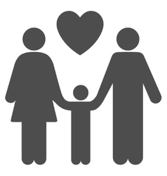 Family love flat icon vector