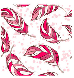 Feathers-pink vector image