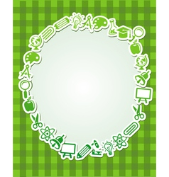 Frame with copy space for text vector